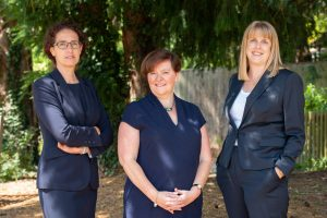 Irena Osborne, Ruth Hawkins and Emily Boardman