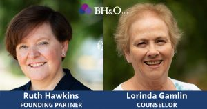 Ruth Hawkins and Lorinda Gamlin